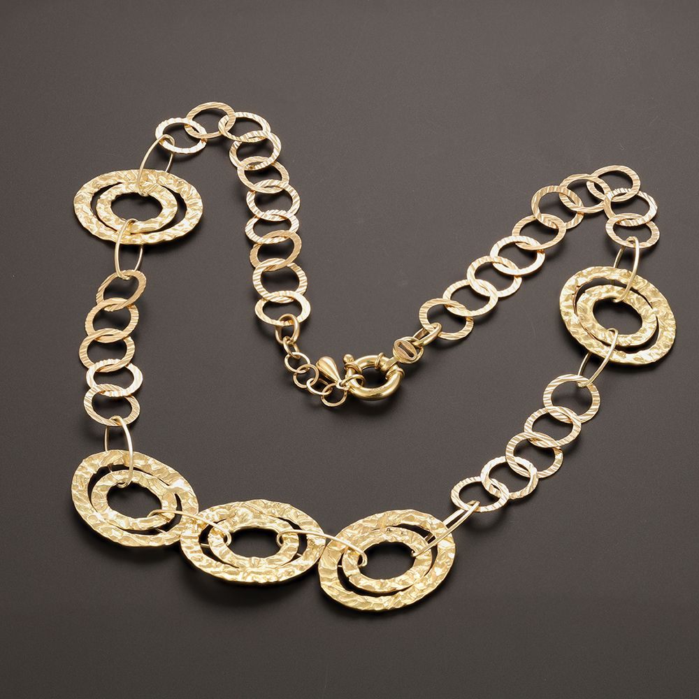 Pre-Owned 18ct Yellow Gold Hoop Necklace - 16g  Gold