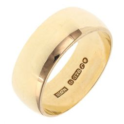 Pre-owned 9ct Yellow gold Court Shape Wedding Ring