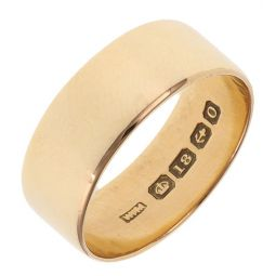 Pre-owned 18ct Yellow gold Court Shape Plain Wedding Ring - 6g