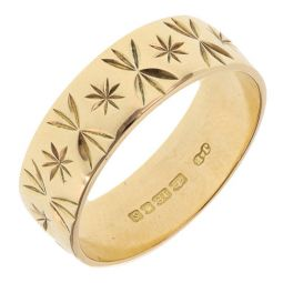 Pre-owned 18ct Yellow gold Band Ring - 5g - Size P 1/2