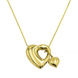 Pre-owned 18ct Gold Heart Necklace - 6g