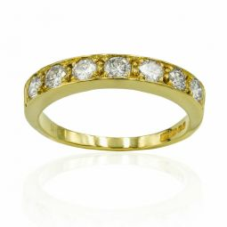 Pre-owned 18ct Yellow Gold Eternity Diamond Ring 1.05ct