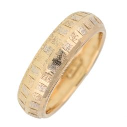 Pre-owned 9ct Gold Classic Patterned Ring - Size O