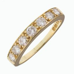 Pre-owned 18ct Yellow Gold Eternity Diamond Ring 1.05ct G SI1