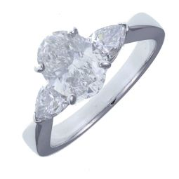 Pre-owned 18ct White Gold 1.96ct F/SI2 Diamond Engagement Ring RRP£10.500