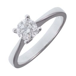 Pre-owned 18ct White Gold 0.50ct Single Stone Diamond Ring F/SI1