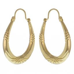 Pre-Owned 9ct Gold Creole Earring  - 1.5g