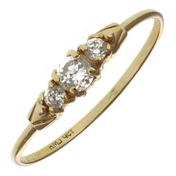 Pre-Owned 9ct Yellow Gold Three Stone Ring  - 0.67g
