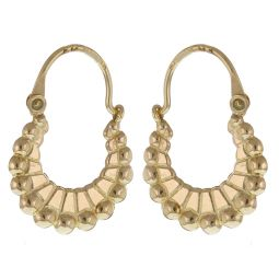 Pre-Owned 9ct Yellow Gold Creole Earrings - 1g