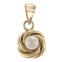 Pre-Owned 14ct Yellow Gold Fancy Pearl Pendant  - 0.6g