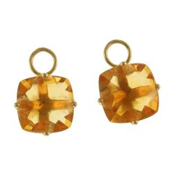Pre-Owned 18ct Yellow Gold Citrine Gemstone Earrings  - 2.5g