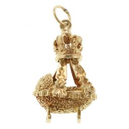 Pre-Owned 9ct Yellow Gold Baby Crib Charm - 4.9g