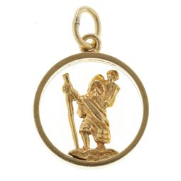 Pre-Owned 9ct Yellow Gold St. Christopher Charm - 3.3g