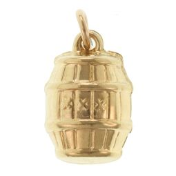 Pre-Owned 9ct Yellow Gold Barrel Charm - 0.7g