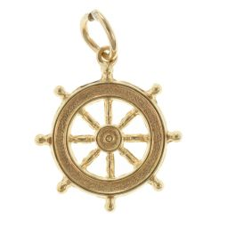 Pre-Owned 9ct Yellow Gold Ship's Wheel Charm - 0.81g