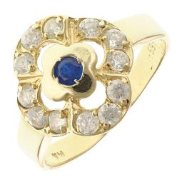 Pre-Owned 14ct Yellow Gold Sapphire Cluster Ring  - 2.57g