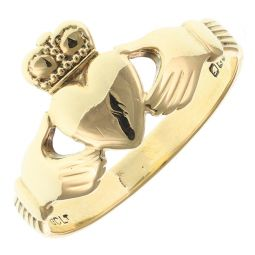 Pre-Owned 9ct Yellow Gold Claddagh Ring  - 2.3g