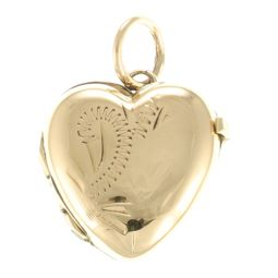 Pre-Owned 9ct Yellow Gold Small Locket Pendant - 0.89g