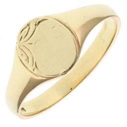 Pre-Owned 9ct Yellow Gold Signet Ring  - 2g