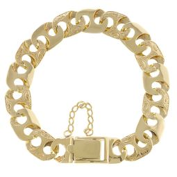 Pre-Owned 9ct Yellow Gold Mariner Classic Bracelet - 49g