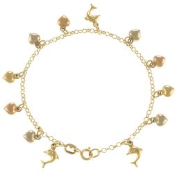 Pre-Owned 18ct Yellow Gold Belcher Charm Bracelet - 7g