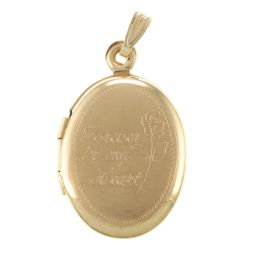Pre-Owned 9ct Yellow Gold Locket - 2.28g