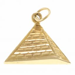 Pre-Owned 18ct Yellow Gold Pyramid Pendant  - 1.5g