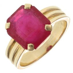 Pre-Owned 14ct Yellow Gold Gemstone Ring - 8g