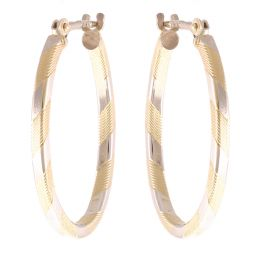 Pre-Owned 9ct Yellow Gold Oval Earring - 1.8g