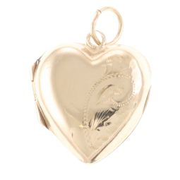 Pre-Owned 9ct Yellow Gold Locket Pendant - 1.2g