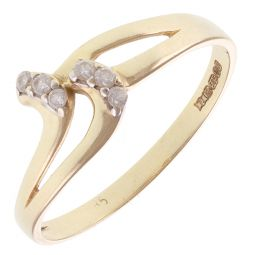 Pre-Owned 14ct Yellow Gold Fancy Gem-Set Ring - 1.4g  - Size P