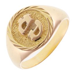 Pre-Owned 18ct Yellow Gold Pinky Signet Ring - 6.4g