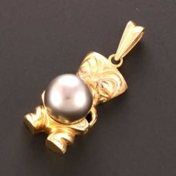 Pre-owned 18ct Gold Fancy Pearl Pendant - 7g