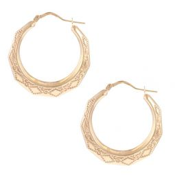 Pre-owned 9ct Yellow Gold Creole Earrings