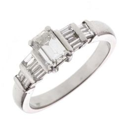 Pre-owned Platinum Engagement Ring 1.12ct G/H VS2- 7g