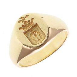 Pre-owned 18ct Yellow Gold Signet Ring - 8g