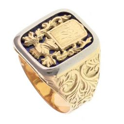 Pre-owned 18ct Yellow Gold Signet Ring - 11g