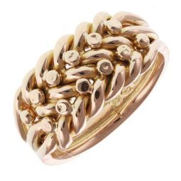 Vintage 1903/04 18ct Yellow Gold Keeper Ring  - 8g