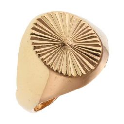 Pre-owned 22ct Yellow Gold Signet Ring - 6g