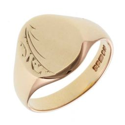 Pre-owned 9ct Yellow Gold Signet Ring