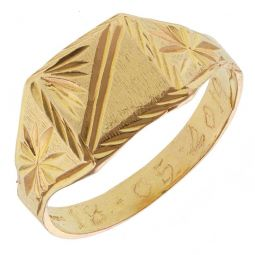 Pre-owned 22ct Yellow Gold Signet Ring