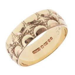 Pre-owned 9ct Yellow Gold Patterned Ring