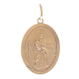 Pre-owned 9ct Yellow Gold St. Christopher Pendant