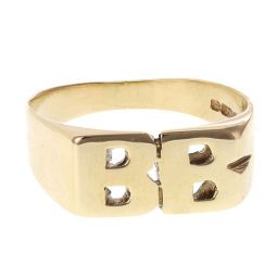 Pre-owned 9ct Yellow Gold Initial Ring - Size Q