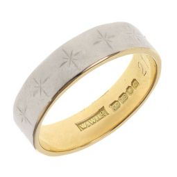 Pre-owned 18ct Yellow & White gold Band Ring - 5g - Size Q