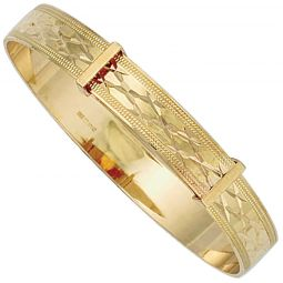 9ct Yellow Gold 7.0mm Bangle For A Child
