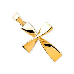9ct Yellow Gold Twisted Cross