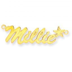 9ct Gold Script Star Name Necklace