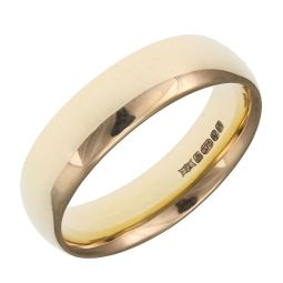 Pre-owned 9ct Yellow Gold Plain Ring - Size K 1/2