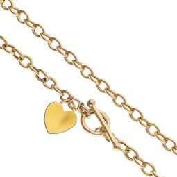 Pre-owned 9ct Yellow Gold Toggle Necklace 14g